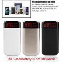 DIY Power Bank Case 10000mAh Dual USB Battery Charger Box Shell with LED Display