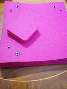 Set Of 9 Felt Interlocking Placemats And 8 Coasters Fuchsia