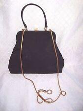 Vtg LIZ CLAIBORNE Black Convertible Purse,Gold Tuck Chain,Shoulder Bag/Clutch LC