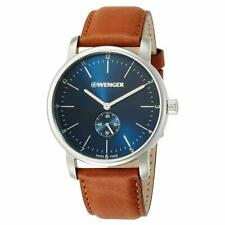 Wenger 01.1741.103 Men's Urban Classic Brown Band Blue Dial Watch