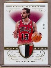 2013-14 NATIONAL TREASURES JOAKIM NOAH 3 COLOR PATCH 13/25!! HIS JERSEY NUMBER