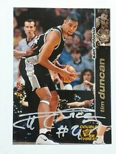 Tim Duncan RC Press Pass Double Threat hand signed Autograph Card w/COA