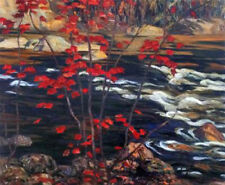 A.Y. Jackson - The Red Maple- Giclee Canvas Gallery Wrapped- 38x47