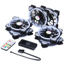 New 6PCS RGB Adjustable LED RF Controller Chassis Fan for CPU Radiator System