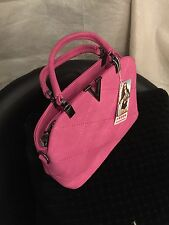 Pink Faux Leather Designer Handbag