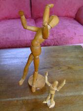 Anatomische Modell - Puppe  33 cm ; aus Holz  ; mit Miiatur als Zugabe
