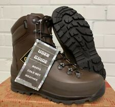 ITURRI BROWN LEATHER COLD WET WEATHER COMBAT BOOTS - 5 Large , British Army NEW