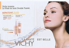 PUBLICITE ADVERTISING 094 2010 VICHY Fond de teint  (2 pages)