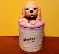 COCKER SPANIEL Porcelain Dog Treat Cookie Jar Ceramic Figurine Quality DNC   NIB