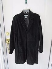 Jessica Holbrook Ladies Washable Black Suede Western Duster Large