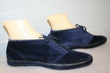 KEDS 8 DeadStock Vtg 1970s Navy Blue Chukka Boot Suede Velour  ANKLE BOOTIE Shoe