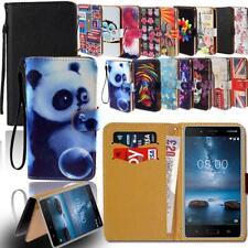 Cuir Smart Stand Portefeuille Étui Housse Pour Divers Nokia 1/2/3/5/6/7/8/9 Télé...