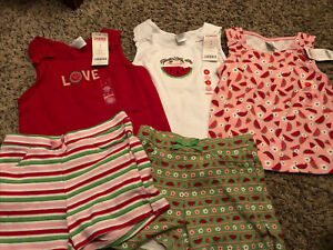 NWT GYMBOREE CHERRY BABY WHITE STRIPED COLLARED HALTER TOP  SIZE 4