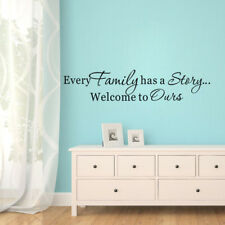 Every Family Has A Story Welcome To Ours Quote Wall Sticker Vinyl Decal Decor