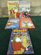 5 vintage ladybird books Rupert books Frog Song Blunderpuss Old Hat magic seeds