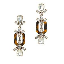 J Crew Crystal and Tortoise Statement Earrings NWT $85  07702