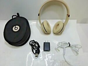 LEFT SIDE ONLY WORKS Beats by Dr. Dre Beats Solo3 Wireless Headphones Matte Gold