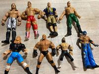 WWE WCW JAKKS Figures Wrestling Lot of 8 Cena Stone Cold Piper
