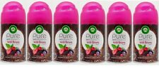 6 Air Wick Refreshing Spray Refills WILD BERRIES Odor Neutralizer Home Fragrance