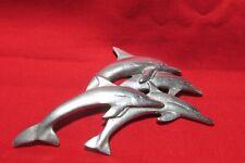 Pewter Dolphin Flat Figurine