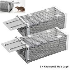 2x Medium 1-Door Rat Mouse Trap Humane Live Cage Small Animal Chipmunk Defenders