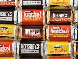 Hershey's Miniatures Chocolate Bars Assortment Original, Candy Bulk