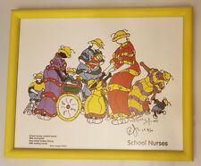 "Brian Joseph School Nurses Hand Signed Color Lithograph Framed 13"" X 10.5"""
