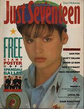 Just Seventeen Magazine 30 July 1986   Simon Le Bon   Matt Dillon   Samantha Fox