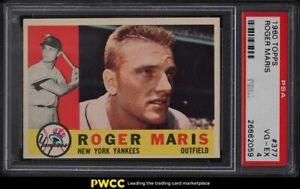 1960 Topps Roger Maris #377 PSA 4 VGEX