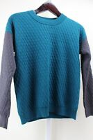 Romeo & Juliet Couture Cotton Blend Emerald & Iron Crew-neck Sweater Size Small