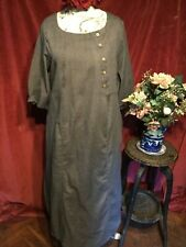 ELEGANT GREY  DRESS, LAGENLOOK , BOHEMIAN,  QUIRKY. XL