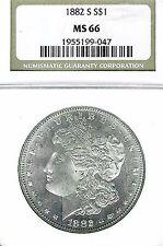 1882-S Morgan Dollar : NGC MS66 Blazing White