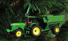 Custom John Deere Tractor and Grain Cart Christmas Tree Ornament Set