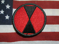 US ARMY Vietnam Era 7th Infantry Division Color SSI Patch OD Border m/e