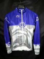 Voler M Purple Gray Cycling Jersey Full Zip Shirt Womens Long Sleeve Raglan USA