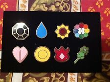 ALL 8 Of Pokemon Kanto Gym Badges Metal Pins from Gen 1 Great quality US Seller