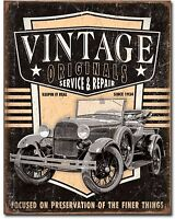 Vintage Service And Repair Metal TIN Sign Retro Look Garage Bar Shop Decor