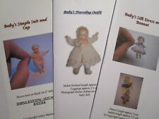 Knitting Patterns for 1:12 scale dollhouse baby (fits 2 inch doll) - SET 4