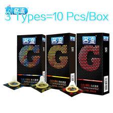 Lots 10Pcs Condom Latex Top Quality G Spot Condom Delay Ejaculation Big Particle