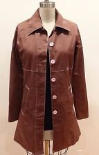 Women's Size Small RVCA Long Brown Casual Cotton Coat for Women and Girls
