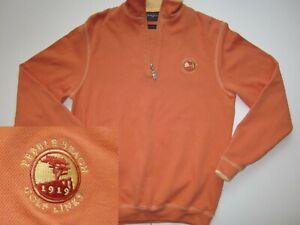 PEBBLE BEACH GOLF LINKS - Mens 1/4 Zip Pullover (Sz S Small) BOBBY JONES (EUC!)