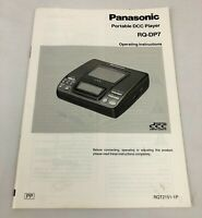 Panasonic RQ-DP7 Portable DCC Player Operating Instructions Manual