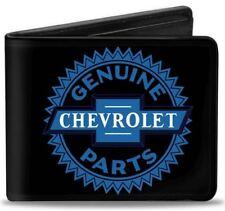 Men Wallet Bifold 1927 GENUINE CHEVROLET PARTS Malibu Impala Black Blue Logo