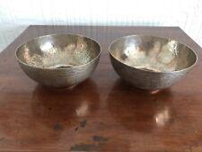 Two Pretty African White Metal Bowls - Amadu Alkina Kano
