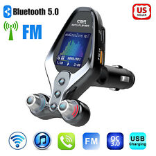 Bluetooth Car Fm Transmitter Mp3 Hands free Radio Adapter Kit Qc3.0 Usb Charger