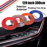 "Multi Colour 120"" 3M Universal Car Interior Exterior Adhesive Molding Trim Strip"