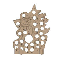 Wooden Christmas Advent Calendar Hollow Out Countdown Chocolate Holder Stan P4F2