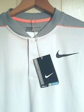 NEW Nike Flyknit Snap Polo Golf Shirt Mens Large $90.00 Gray & Light Gray Design