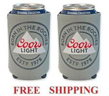Coors Light Rockies 2 Beer Can Holders Cooler Coozie Coolie Koozie Huggie New
