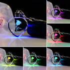 Fairy Crystal Rose LED Light Keychain Love Heart Key Chain Ring Keyring Pendant